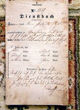 1848 GERMAN SERVICE BOOK - 18 Year Old SERVANT GIRL'S STATUS & DUTIES DOCUMENT