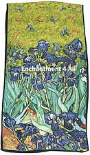 "Art Silk Oblong Scarf Wrap w/ Van Gogh's ""Irises"" 1889"