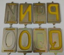 Pressed GERMAN FE Mittelschrift Car Number Plate Machine Press Font Set Jig Dies