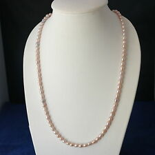 """Beautiful Bronze Pearls Necklace27"""" Inches Long With Silver Clasps In Displ Box"""