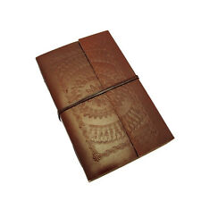 Fair Trade Handmade Extra Extra Large Embossed Leather Journal Diary 2nd Quality