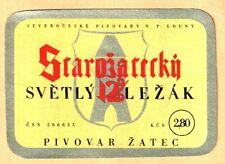 ETICHETTA - STAROJATECKA' - Světlý ležák 12% - PIVOVAR ZATEC -   N.103