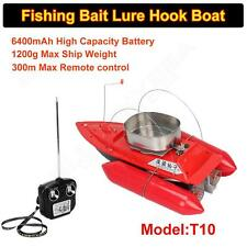 T10 Remote Control RC Bait Fishing Boat Electric Fish Finder Lure Carrier Red