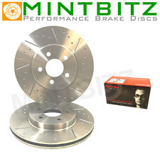 BMW E46 318i 09/98-01/05 Front Dimpled And Grooved Brake Discs And Brembo Pads