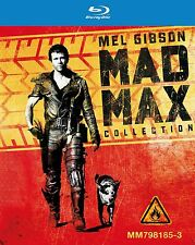 MAD MAX TRILOGY BLU-RAY 3-DISC BOX SET REGION FREE RARE BRAND NEW w/ Mel Gibson