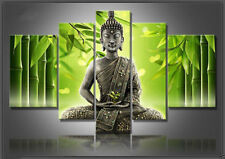 Hand-draw Art Oil Painting Wall Decor Canvas,Green Bamboo & Buddha(NO framed)