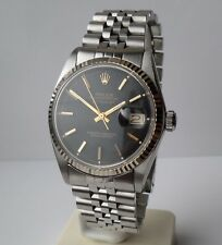 ♛ Rolex 1601  Oyster Perpetual  Datejust, White gold & stainless steel Gents