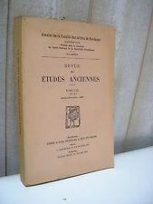 Revue des ETUDES ANCIENNES 1968-2 Olympe Epicure Pyrrhos Caton Constantin Pline