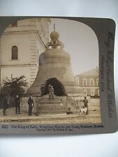 PHOTO ANCIENNE STEREO 1903 RUSSIA MOSCOW King of Bells РОССИЯ William H. RAU