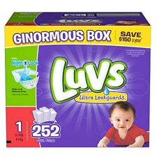 252 CT Luvs Ultra Leakguard Disposable Baby Diapers Sz 1 (8-14 LB) Free Shipping