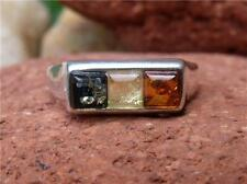 MULTI AMBER 925 SILVER RING SIZE P * US 7.75 SILVERANDSOUL JEWELLERY