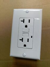 (20 pc lot) NEW 20A GFCI Outlet Receptacle 20 Amp White w/ LED Light Wall plate