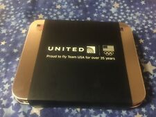 1 NEW united airlines domestic First class usa olympic tins toiletry amenity kit