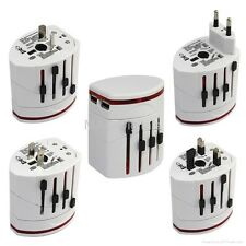 World Universal Travel Adapter with two Usb port UK EU AU US ASIA AFRICA Plug
