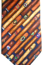 """Alynn Men' Silk Tie 59"""" X 3.75"""" """"What This Country Need Is A Good 5 Cent Cigar"""""""