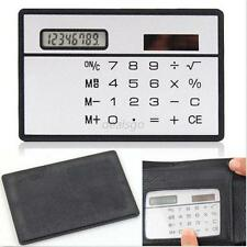 Mini Slim Credit Card Solar Power Pocket Calculator Novelty Small Travel Compact