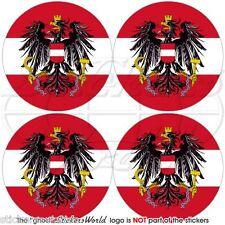 """AUSTRIA, Austriaco Osterreich Adesivi in Vinile per Auto 50mm (2"""") Stickers x4"""