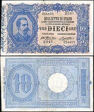 Biglietto di Stato da 10 Lire 11/10/1915 Giu. Dell'Ara - Righetti