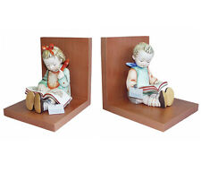 Hummel Book Worm Bookends 14/A & 14/B NIB Boy & Girl Reading Books NEW IN BOXES