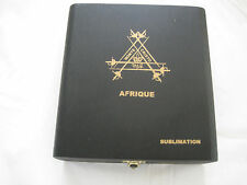 MONTE CRISTO  AFRIQUE SUBLIMATION WOODEN CIGAR BOX BLACK W/GOLD LETTERING