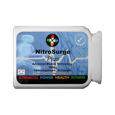 NITRO SURGE NITRIC OXIDE STRONGEST MUSCLE GROWTH 1000MG 90 Caps L-ARGININE AAKG
