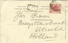 Hong Kong SG#102(single frank) 1920 postcard view Canton-women to Holland,
