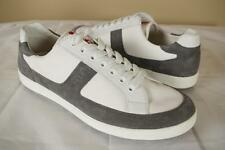 $560 Prada Gray White Suede Nylon Sneakers 10.5 P 11.5 US Low Top Shoes Trainers