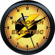 Personalized Black & Gold Electrical Contractor Office Wall Clock Gift