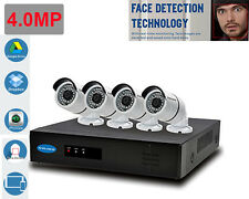 5.0MP 4ch Face Detection NVR System 1TB HDD 4 Metal Sony CMOS  4MP IP Camera