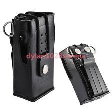 Hard Leather Carrying Case For Kenwood 2-Way Radio TK3207 TK2207 TK-3307