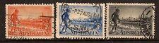 AUSTRALIA 1934 YARRA YARRA SC # 142a-144 USED
