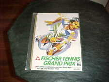 1982 Fischer Tennis Grand Prix Tennis Program Vienna Austria