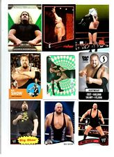 Big Show Wrestling Lot of 9 Different Trading Cards 2 Inserts WWE TNA BS-I1