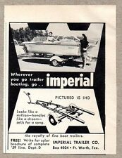 1959 Print Ad Imperial Model IHD Boat Trailers Ft Worth,Texas