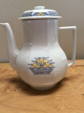 Haviland Limoges Blue Yellow Trim Coffee Set For 8 China Demi Tasse Espresso EUC