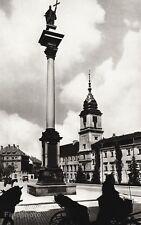 1934 Vintage 11x14 POLAND Warsaw Royal Castle Statue Architecture Art Paul Wolff
