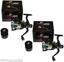 2 X LARGE GRANDESLAM CARBO 40 FISHING REELS WITH 8LB LINE COARSE SEA PIKE REELS