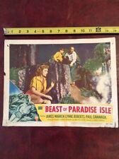 "1953 RKO Radio Pictures 14"" screen movie poster, Beast of Paradise Isle, Warren"