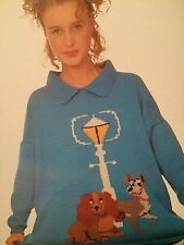 Disney Lady And The Tramp Womans Jumper Knitting Pattern