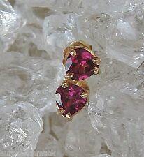 Herz Ohrringe in aus 14kt 585 Gold Ohrstecker mit Herzen►heart herzchen pink neu