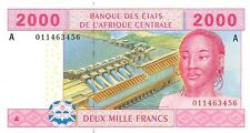 Central African States (A) Gabon 2000 Francs 2002 Pn 408 Aa.1 Unc