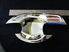 CHROME 4 DOOR HANDLE INSERT BOWL FOR MAZDA BT-50 PRO YEAR 2012 PICK UP V.3