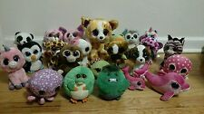 Lot of 23 TY Beanie Boos Plush Dolls Collection Ballz Medium Dog Cat Dolphin Big