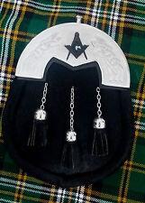 MEN's Highland Kilt (Sporran) Nero bovina celtica Cantle / Kilt (Sporran) massonica