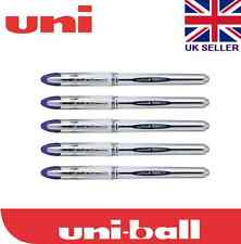 5 x Uni-ball Vision Elite UB-200 0.8mm Tip Rollerball Blue Pen