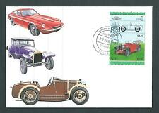 Nevis 1985 FDC. Leaders of the World - Cars