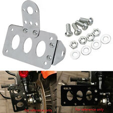 Side Mount Motorcycle License Plate Taillight Bracket Fit Harley Chopper Honda