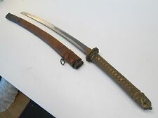 WW2 HAND MADE JAPANESE ARMY OFFICERS SWORD WI SCABBARD SIGNED KANETOKI & DATED