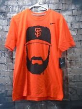 GIANTS Shirt 2011 SF Nike Brian Wilson Fear The Beard Baseball Champs OOP NWT