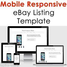 Ebay Listing Template Mobile Responsive Html Design 2017 Compliant